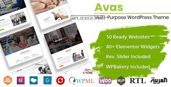 Avas v6.1.18 – Multi-Purpose WordPress Theme