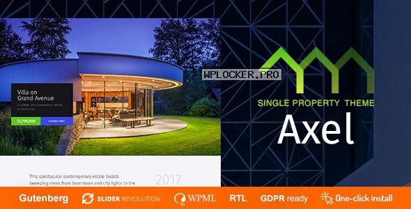 Axel v1.0.6 – Single Property Real Estate Theme