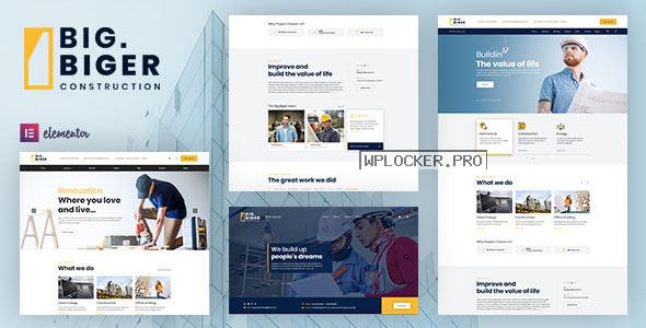Bigger v1.0.7 – Construction WordPress Theme