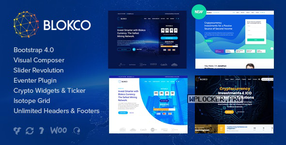 Blokco v2.0 – ICO, Cryptocurrency & Consulting Business Theme
