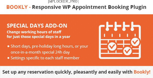 Bookly Special Days (Add-on) v3.8