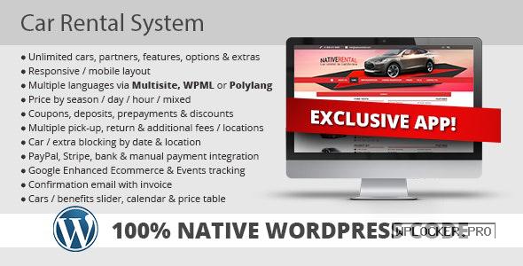 Car Rental System (Native WordPress Plugin) v5.0.2