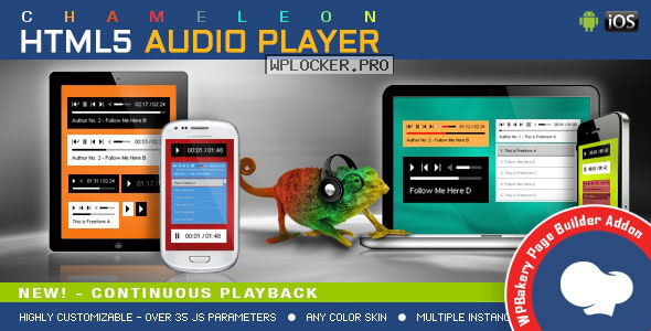Chameleon v1.4.0 – Audio Player for WPBakery Page Builder