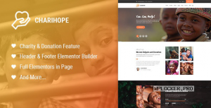 Charihope v1.0.3 – Charity and Donation WordPress Theme