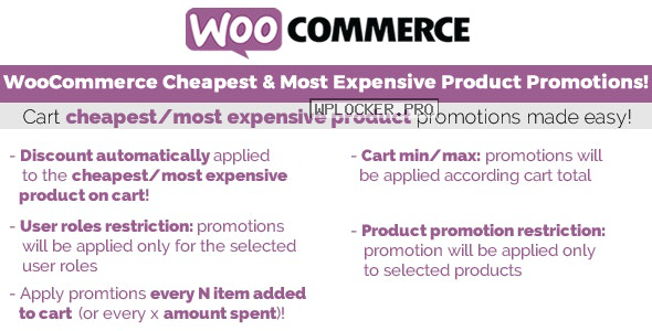 Cheapest & Most Expensive Product Promotions v3.3