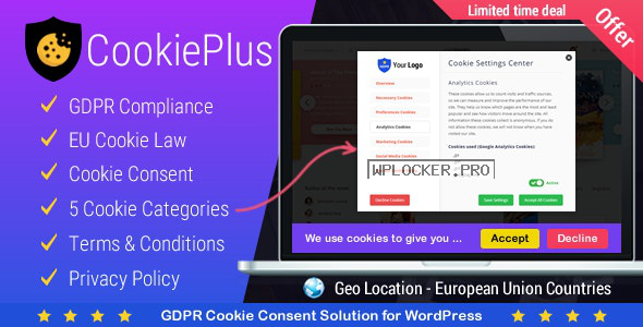 Cookie Plus v1.5.2 – GDPR Cookie Consent Solution
