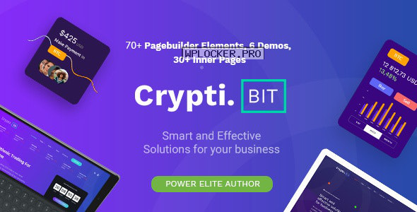 CryptiBIT v1.2 – Technology, Cryptocurrency, ICO/IEO Landing Page WordPress theme