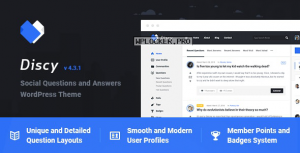 Discy v4.3.1 – Social Questions and Answers WordPress Theme