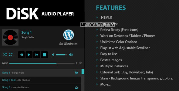 Disk Audio Player For WordPress v2.9