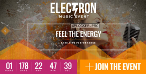 Electron v1.6.0 – Event Concert & Conference Theme