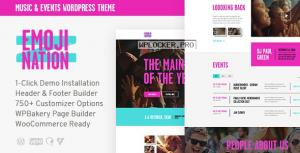 EmojiNation v1.0.1 – Night Club & Concert Event WordPress Theme