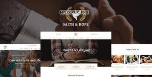 Faith & Hope v1.2.3 – A Modern Church & Religion Non-Profit WordPress Theme