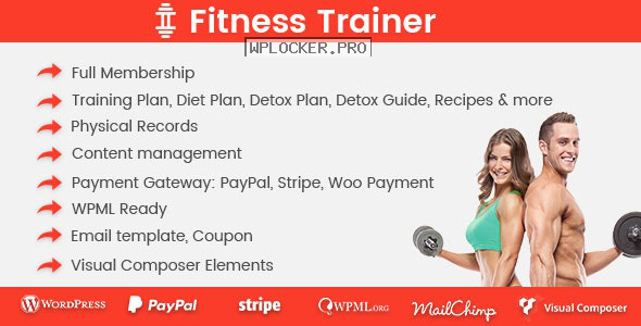 Fitness Trainer v1.5.1 – Training Membership Plugin