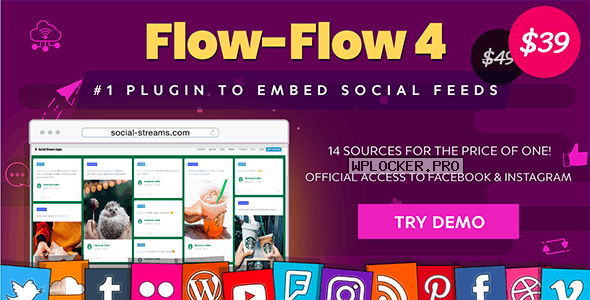 Flow-Flow v4.6.11 – WordPress Social Stream Plugin