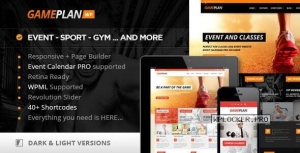 Gameplan v1.6.2 – Event and Gym Fitness Theme
