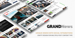 Grand News v3.3.1 – Magazine Newspaper WordPress