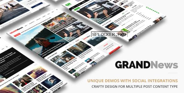 Grand News v3.3.1 – Magazine Newspaper WordPress