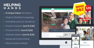 HelpingHands v2.7.6 – Charity/Fundraising WordPress Theme