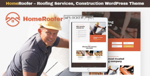 HomeRoofer v1.0.3 – Roofing Company Services & Construction WordPress Theme