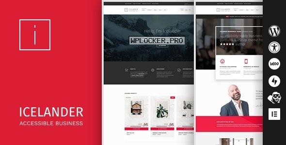 Icelander v1.5.5 – Accessible Business Portfolio & WooCommerce WordPress Theme
