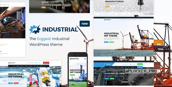 Industrial v1.6.0 – Factory Business WordPress Theme