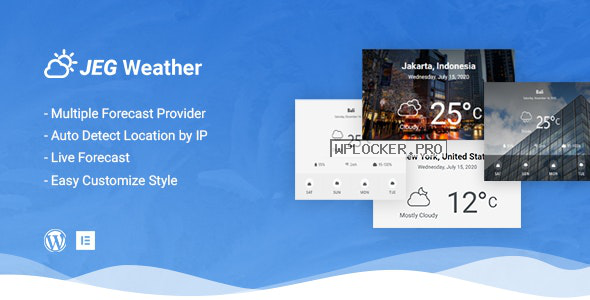 Jeg Weather v1.0.0 – Forecast WordPress Plugin – Add Ons for Elementor and WPBakery Page Builder