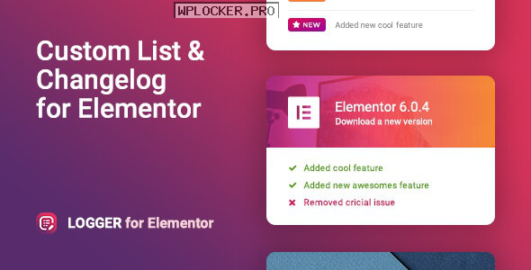 Logger v1.0.5 – Changelog & Custom List for Elementor