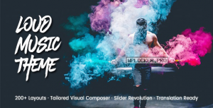 Loud v2.0.5 – A Modern WordPress Theme for the Music Industry