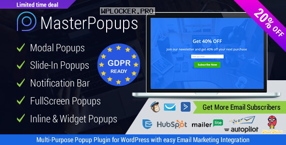 Master Popups v3.6.0 – Popup Plugin for Lead Generation