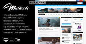 Multicote v2.4 – Magazine and WooCommerce WordPress Theme