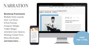 Narration v1.7 – A Responsive WordPress Blog Theme