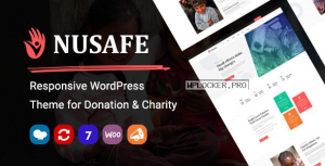 Nusafe v1.4 – Responsive WordPress Theme for Donation & Charity