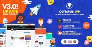 Olympus v3.9.3 – Powerful BuddyPress Theme for Social Networking