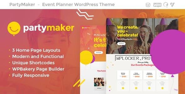 PartyMaker v1.1.4 – Event Planner & Wedding Agency WordPress Theme