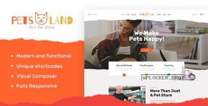 Pets Land v1.2.2 – Domestic Animals Shop & Veterinary WordPress Theme