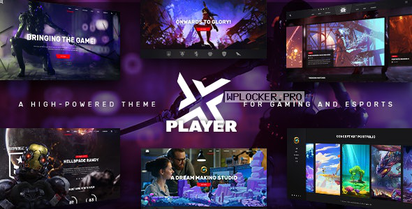 PlayerX v1.10.1 – A High-powered Theme for Gaming and eSports