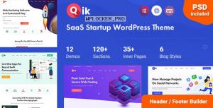 Qik v1.0.1 – SaaS Startup WordPress Theme