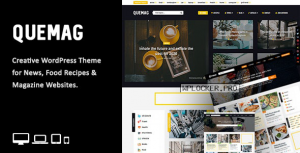 Quemag v1.1 – Creative WordPress Theme for Bloggers