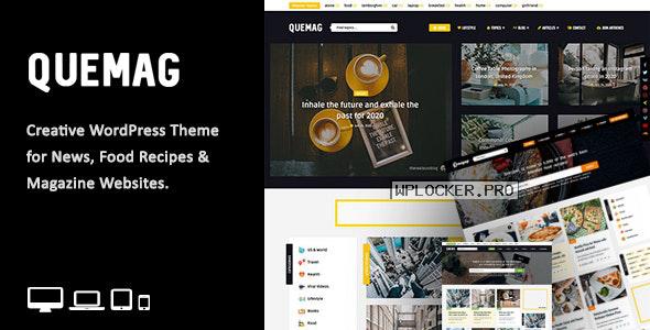 Quemag v1.1 – Creative WordPress Theme for Bloggers