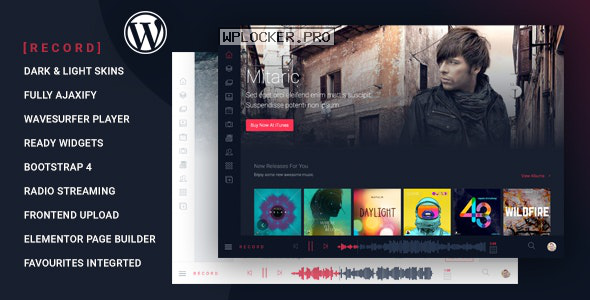 Rekord v1.4.7 – Ajaxify Music – Events – Podcasts Multipurpose WordPress Theme