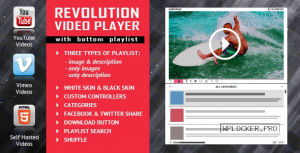 Revolution Video Player With Bottom Playlist v2.1 – YouTube/Vimeo/Self-Hosted Support