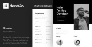Romea v1.2 – Personal Portfolio WordPress Theme