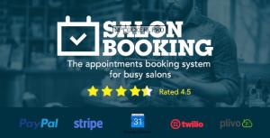 Salon Booking v3.4.4.6 – WordPress Plugin