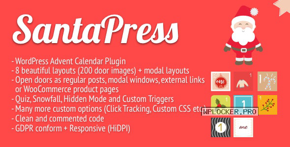 SantaPress v1.3.7 – WordPress Advent Calendar Plugin & Quiz