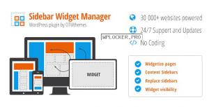 Sidebar & Widget Manager v4.1