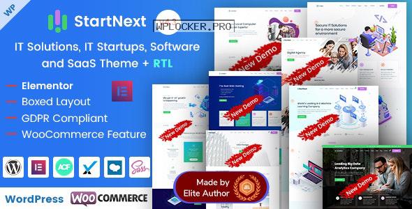 StartNext v4.3 – IT Startups WordPress Theme