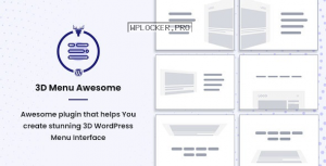 Stunning 3D Off Canvas Menu WordPress Plugin v1.0.2 – 3D Menu Awesome