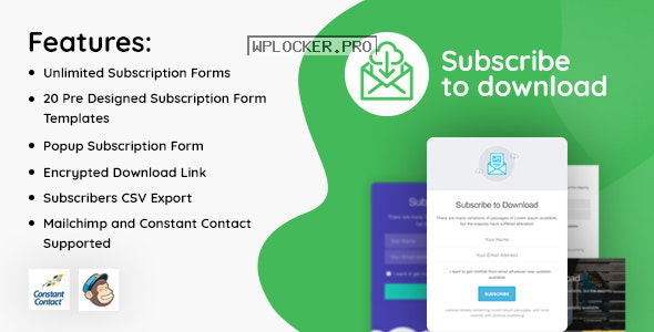 Subscribe to Download v1.2.3 – An advanced subscription plugin for WordPress