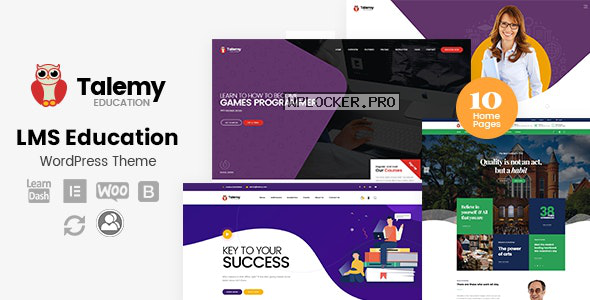 Talemy v1.2.2 – LMS Education WordPress Theme