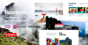 Tourimo v1.0 – Tour Booking WordPress Theme